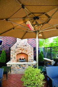 Outdoor Fireplace Patio Design TUUCI Heated Umbrella Parasols