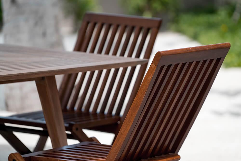 solid hardwood teak outdoor chair design,
